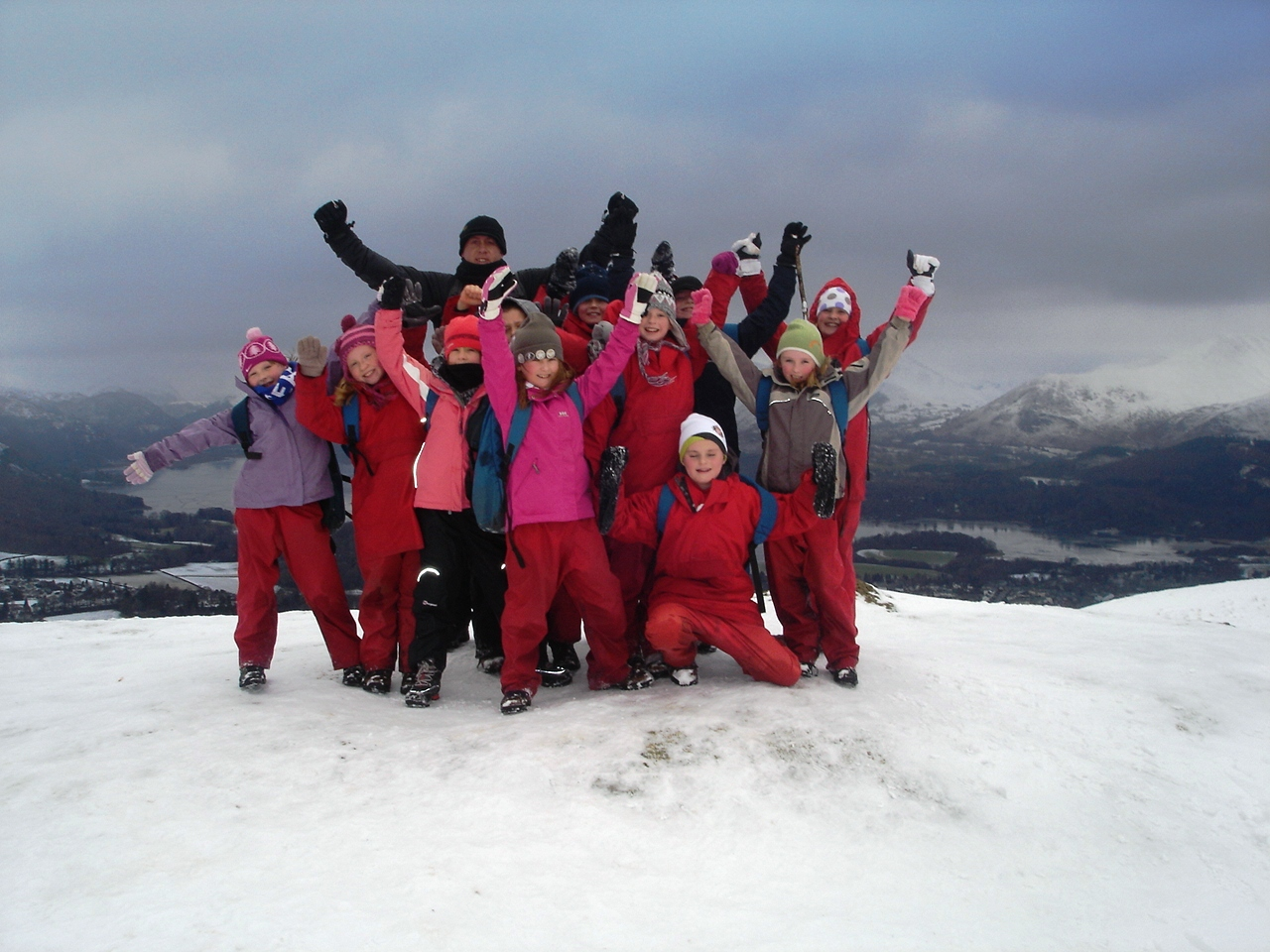 Castletown primary jan 2010 top of latrigg 2