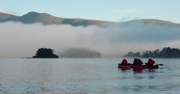 Early morning, misty canoeing, on Derwent Water