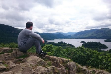 A Nissan delegate peacefully reflecting whilst overlooking Derwent Water