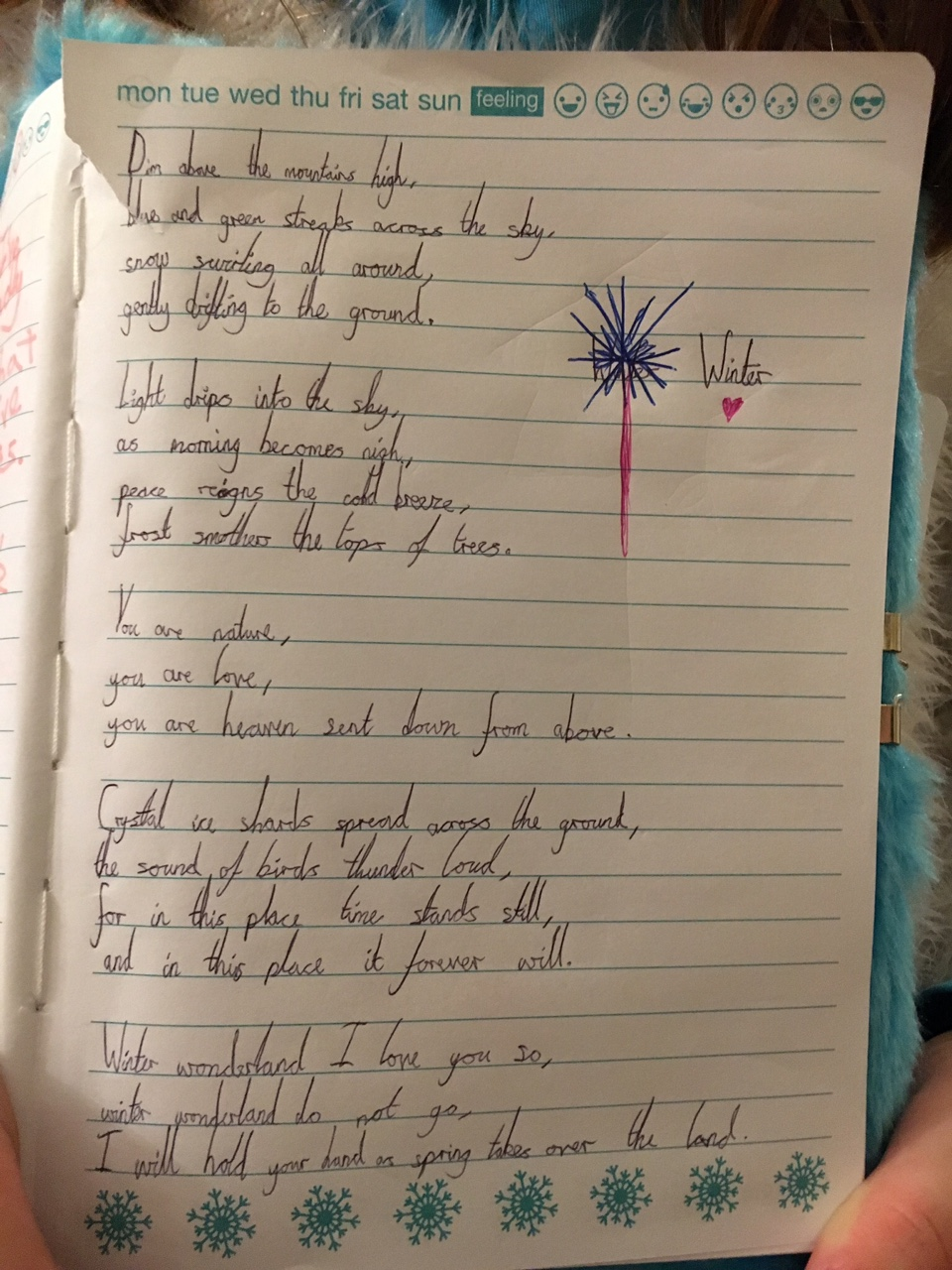 A poem from a pupil that visited Derwent Hill