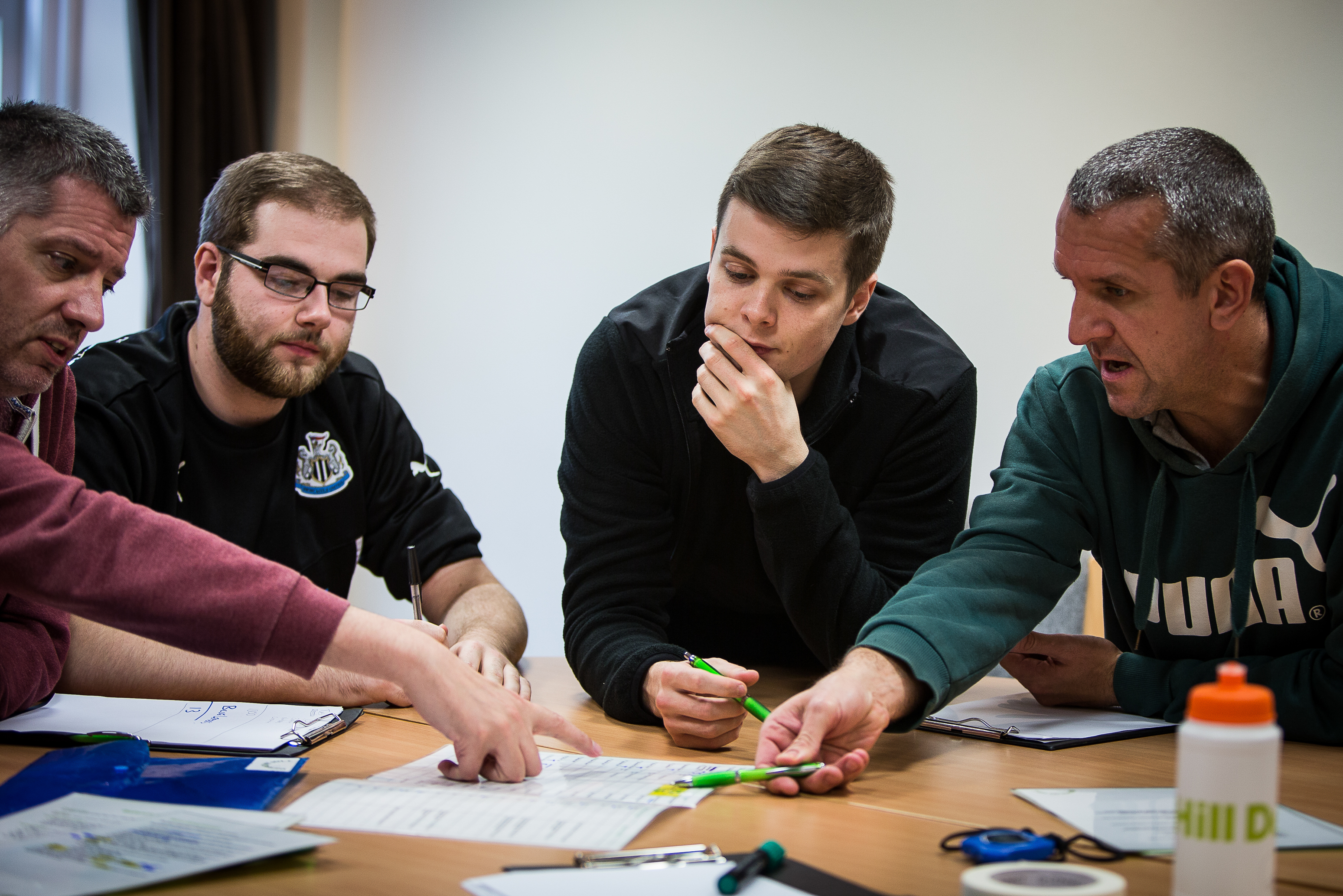 Management team planning for a development training exercise