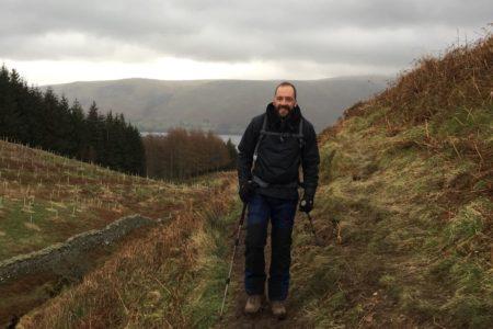 Neale walking in the hills